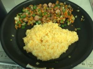 パラパラ炒飯を炒める