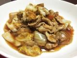 ご飯にも麺にも合う!白菜と豚肉のあんかけ。